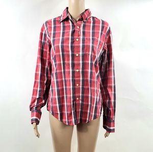 J. Crew Womans Button Up Size Small Red Checks